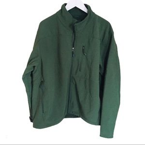KIRKLAND Fleece Soft Shell Jacket Green Size XXL